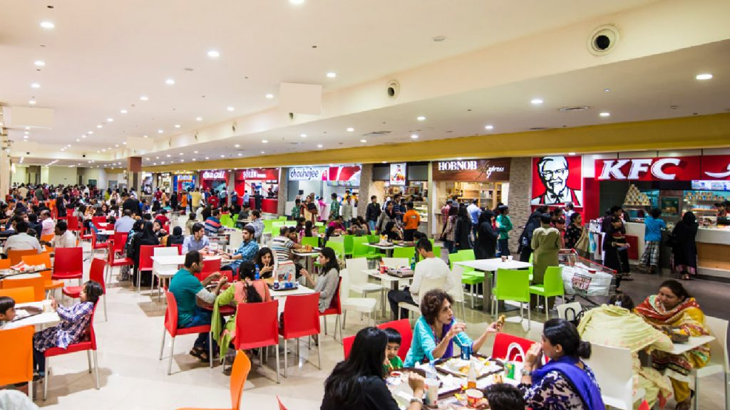 food court at apex gold mall