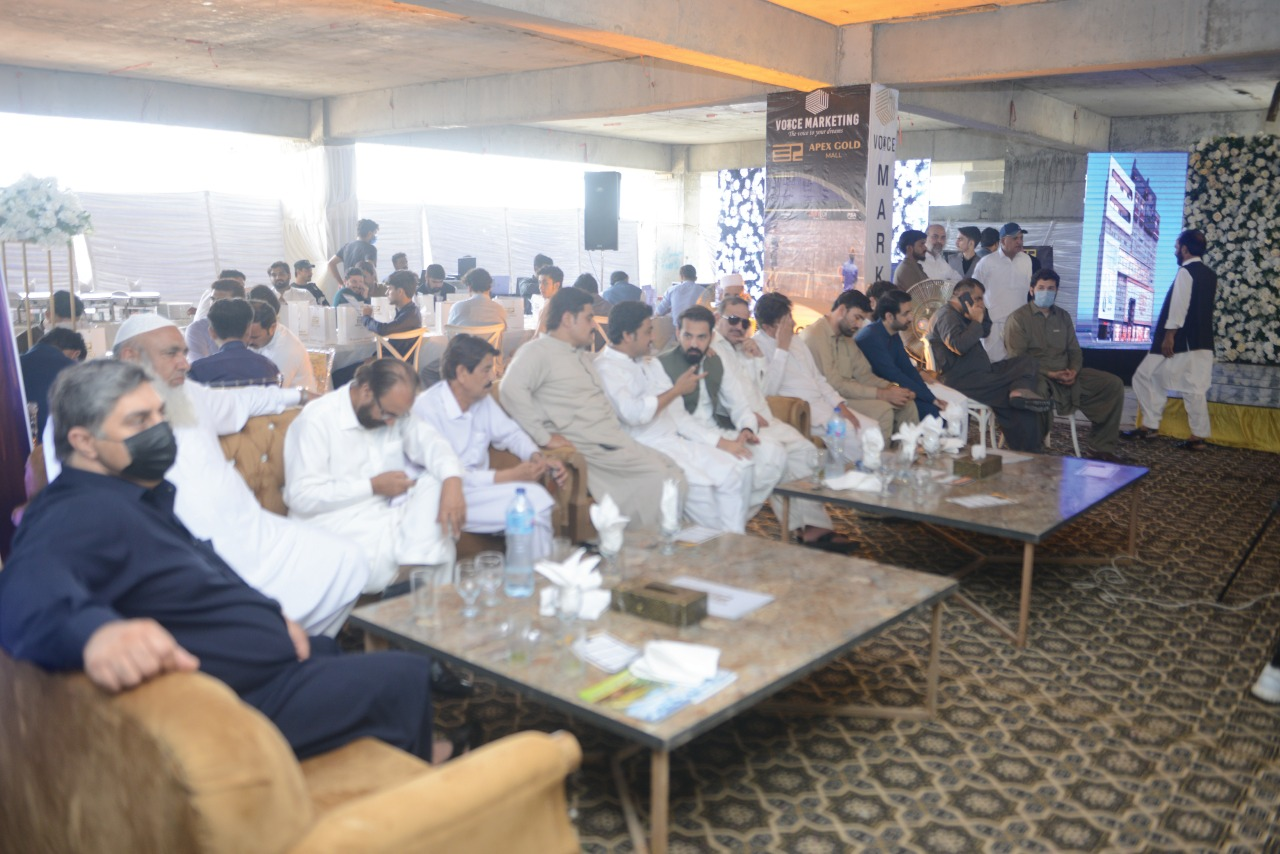 Main Hall of Ground Breaking Ceremony of Apex Gold Mall